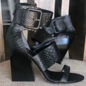 Sigerson Morrison Shoes - Hottest sandals!! Snake embossed leather sandals!!